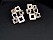 18K Rose Gold Plated Hollowed Shells and Crystals