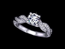 White Gold Plated Ladies Ring for Wedding